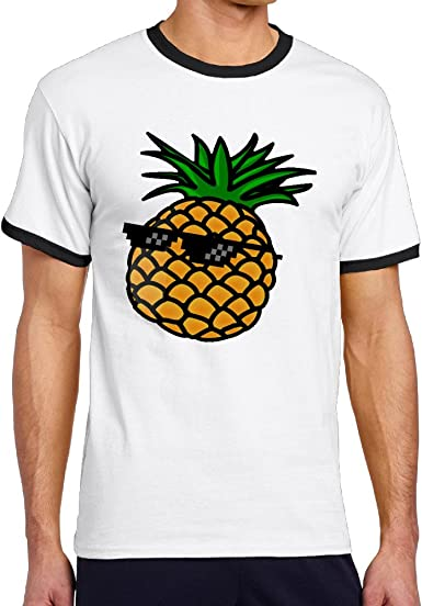 Anch Cool verano gafas de sol Hombre Piña camiseta de manga ...