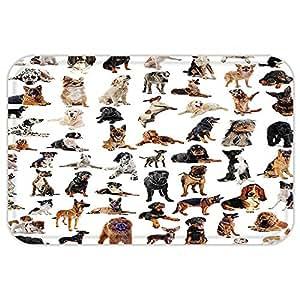 kisscase Custom puerta matdog amante decoración colección imagen con pedigrí dogaustralian perro pastor belga Boxer Italian Mastiff marrón negro