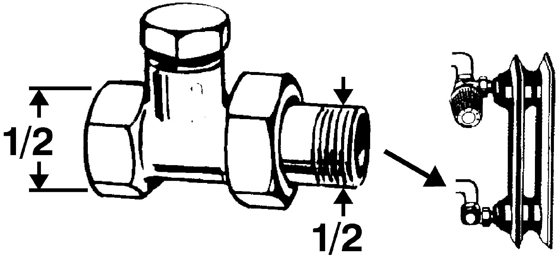 3//4 Zoll Sanitop-Wingenroth 27136 3 Heizk/örper-R/ücklaufverschraubung