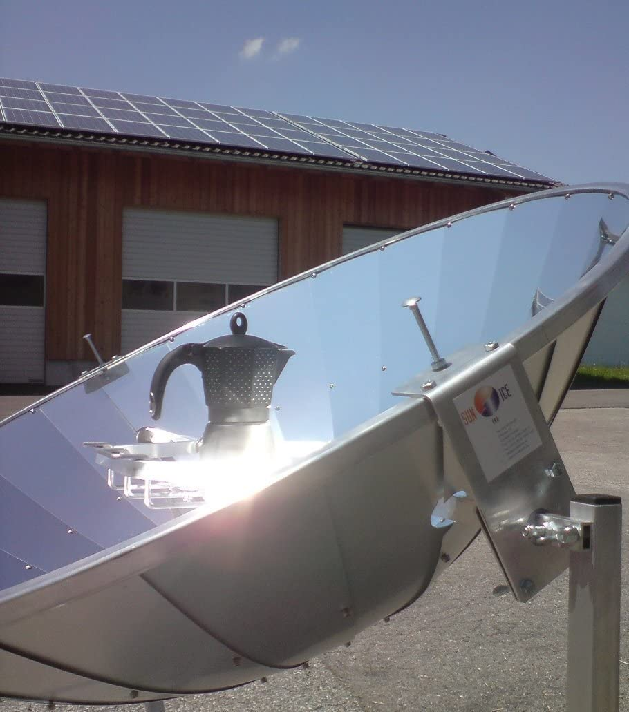 Horno solar - Cocina solar con espejo parabólico de 110 cm y ...