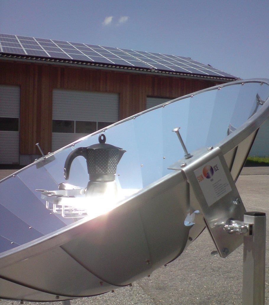 solarofen 110 cm - Solar eléctrica con parabólica Espejo, 450 W de potencia: Amazon.es: Jardín