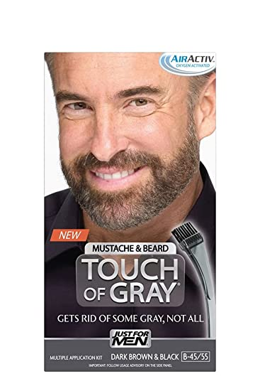 Amazon.com: Just for Men Touch of Gray Mustache and Beard Color ...