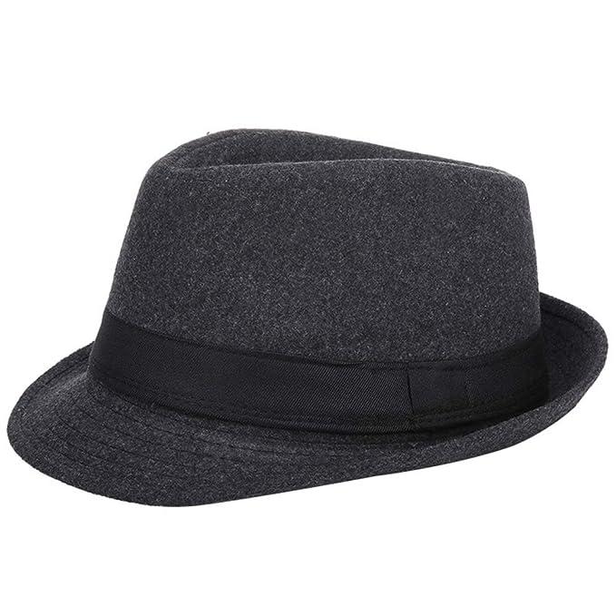 Sombrero elegante paracaballeros estilo jazz.