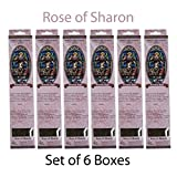 Hosley Candle Company Rose of Sharon Incense Sticks - Set of 6 / 40 sticks per box. Ideal for home, for weddings, spa and aromatherapy settings, or as a gift.