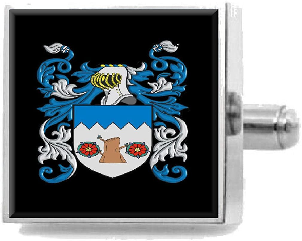 Select Gifts Wade England Heraldry Crest Sterling Silver Cufflinks Engraved Message Box