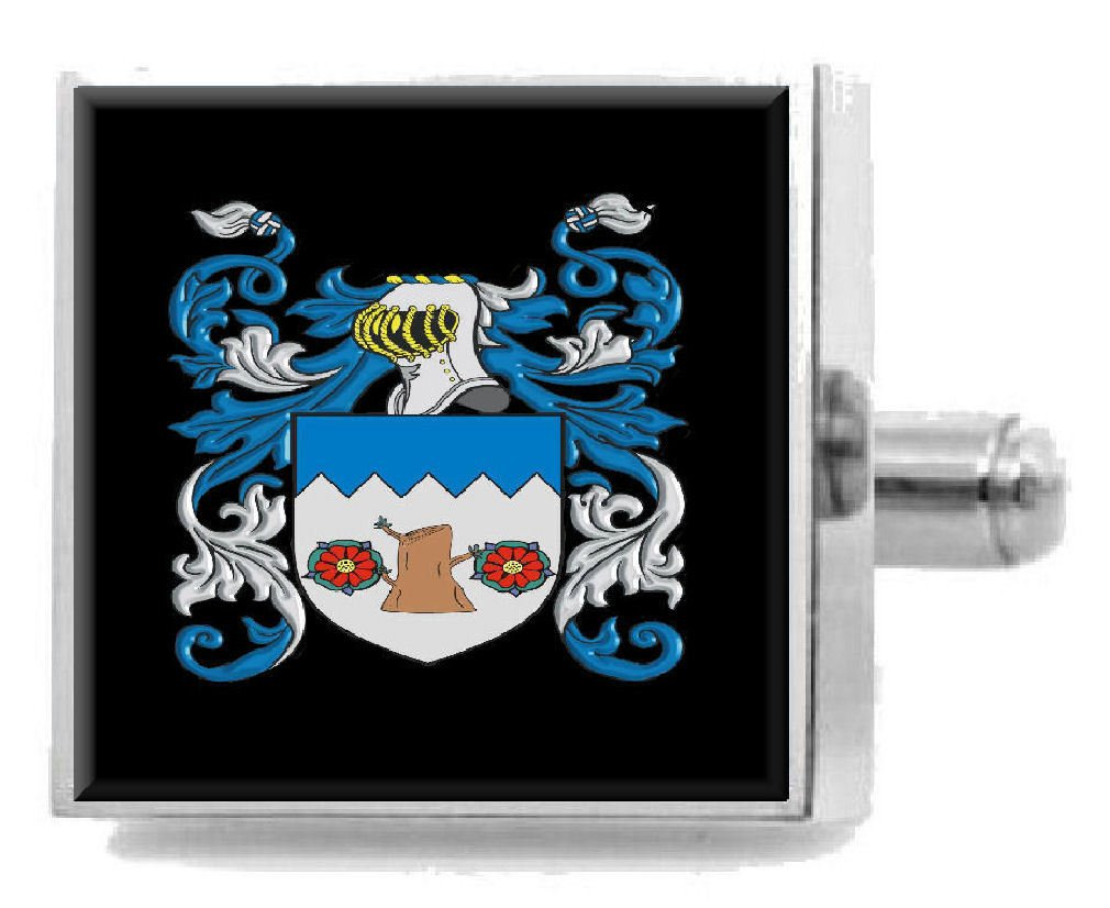Select Gifts Seed England Family Crest Surname Coat Of Arms Tie Clip Engraved In Pouch