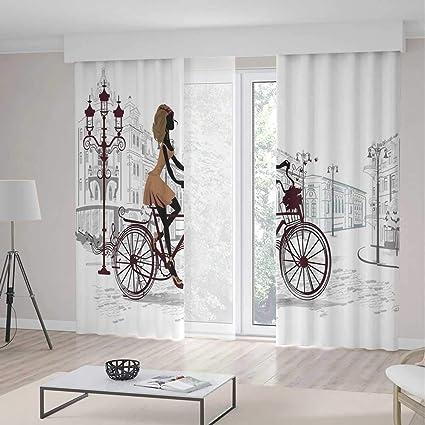 Amazon.com: TecBillion Bedroom Blackout Curtains,Teen Room ...