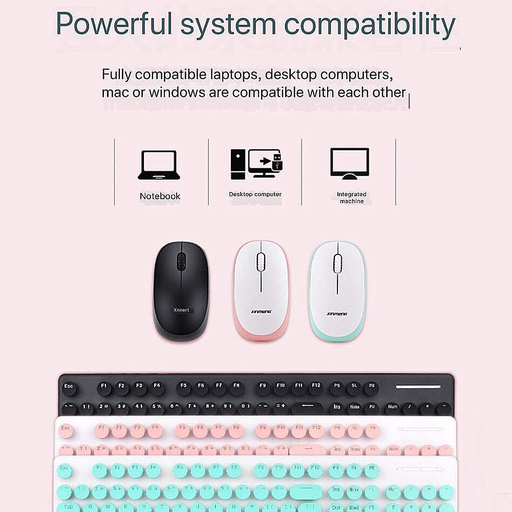 Charging Bluetooth Keyboard and Mouse for Home PC Gamers /& Office Typists Use NCBH Wireless Mechanical Keyboard and Mouse Combo