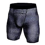 JJLIKER Men Snake Compression Sport Shorts Boxer Brief Underwear Baselayer Running Cool Dry Athletic Gym Yoga Pants Black