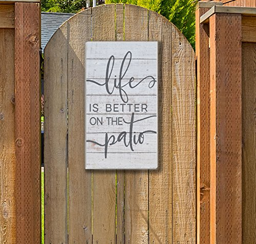 Kindred Hearts Life is Better Indoor/Outdoor Sign, Patio 11'' x 20'' Multicolor by Kindred Hearts (Image #1)