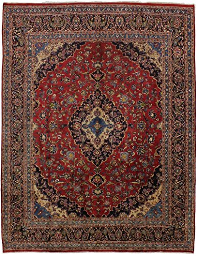 - Traditional Handmade Semi Antique Kashan Persian Style Rug Oriental Area Carpet 10X13