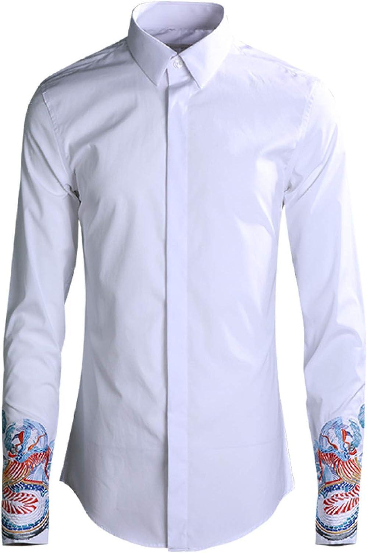 Camisa de Hombre de Manga Larga con Soporte para Hombre ...