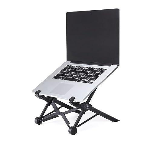 SIKAI Portátil Soporte para portátil Plegable Ajustable Soporte de Escritorio Soporte ángulo de Ajuste ergonómico Ligero