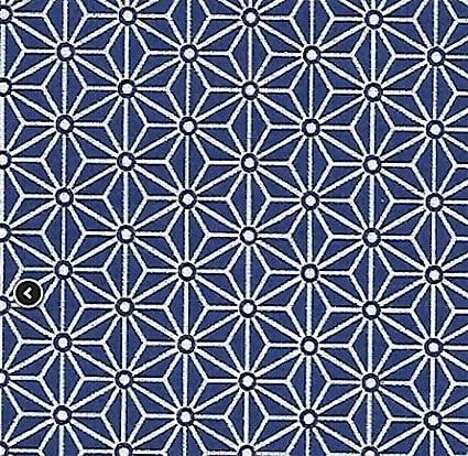 tissu saki bleu marine motif japonais