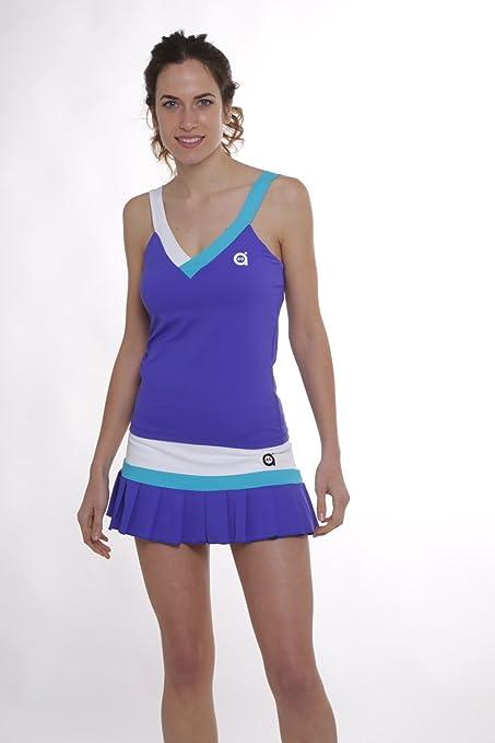 Camiseta padel mujer Cisne (Azul, L): Amazon.es: Deportes y aire libre