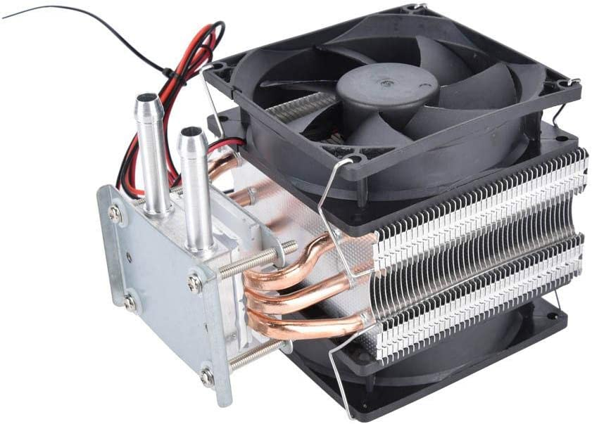 Bicaquu Thermoelectric Peltier Refrigeration,12V Peltier Refrigeration DIY Water Cooling System Cooler Device with Fan