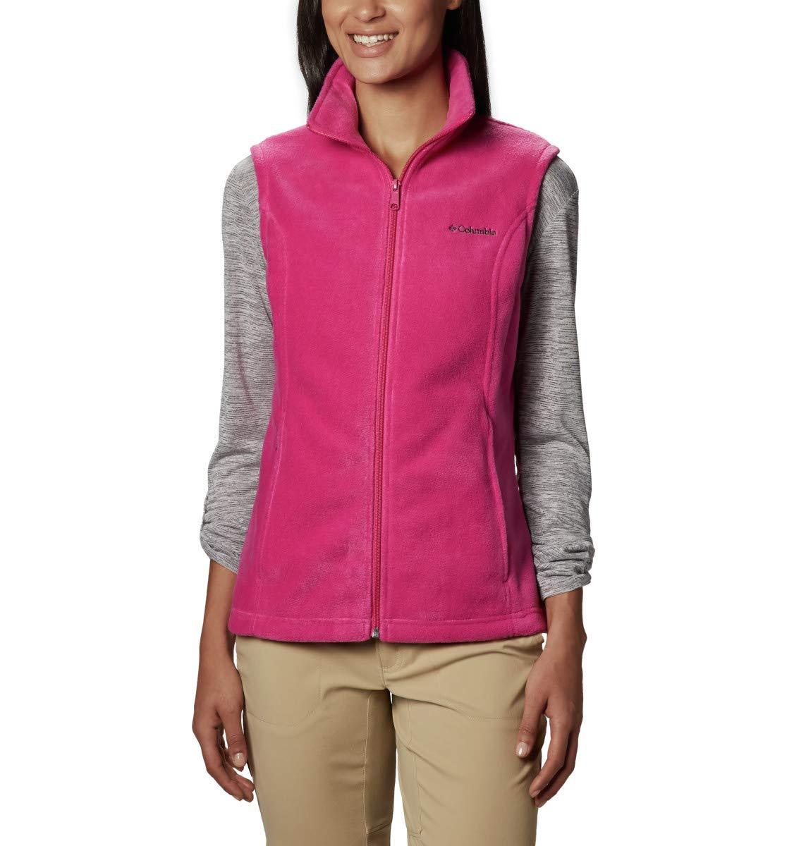 Columbia Women's Petite Benton Springs Vest, Fuchsia, Petite X-Small by Columbia