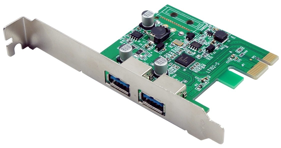 VisionTek Products Two Port USB 3.0 x1 PCIe Internal Card for PCs and Servers - 900869