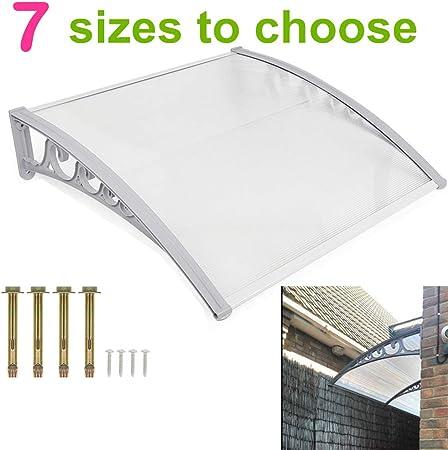 Pensilina Tettoia in Policarbonato ad Arco di Alluminio per Copri Porta Esterno