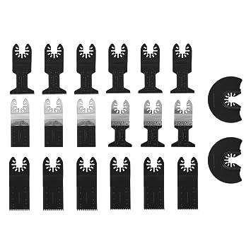 mezcla de hojas de sierra oscilantes que incluyen hojas de sierra de acero de carbono y bimet/álico juego de accesorios de piscina Kit de accesorios oscilantes MASO de 10 piezas