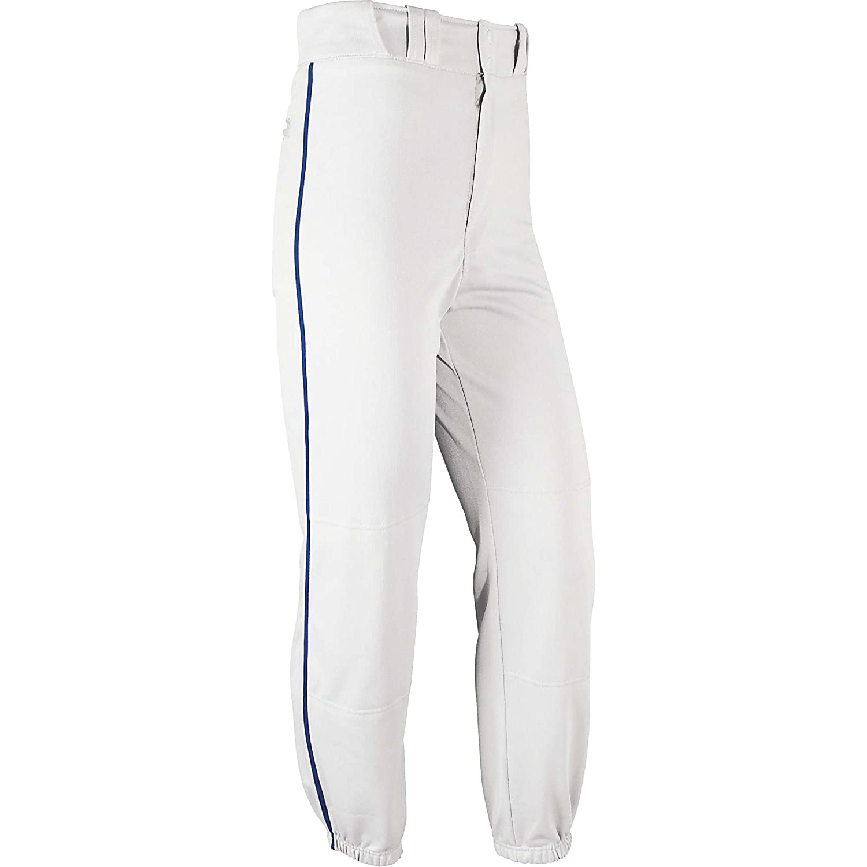 Champro大人用Warpknit Piped Baseballパンツ B0048AFX1E Small|ホワイト/ブルー ホワイト/ブルー Small