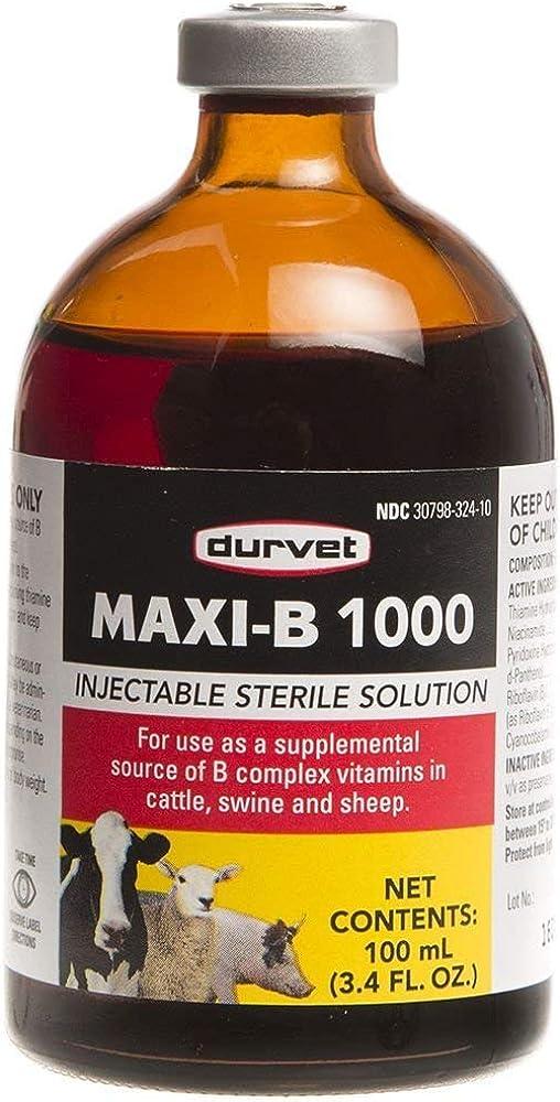 Durvet Maxi B 1000 100mL: Pet Supplies