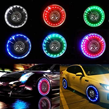 Aumo-mate 1pcs Solar Power Car Bike Motorcycle Tire Wheel Lights Auto Wheels Air