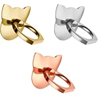 Axifo 3 Pcs Dazzling Cat MobilePhone Ring Holder Stand 360° Rotation Universal Smartphone Ring Grip Stand Car Mounts for iPhone, iPad, Samsung, Other Smartphones and Tablets