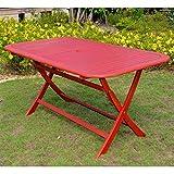 International Caravan TT-RE-054-BRD-IC Furniture Piece Acacia Rectangular Folding Table For Sale