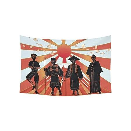 Kristi MCCARTNEY - Tapiz de pared japonés, diseño de monje ...