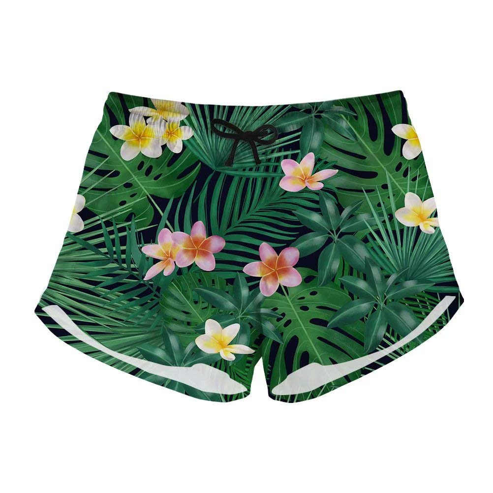 Pensura Women/'s Floral Print Board Shorts Breathable Summer Swim Bottoms Shorts