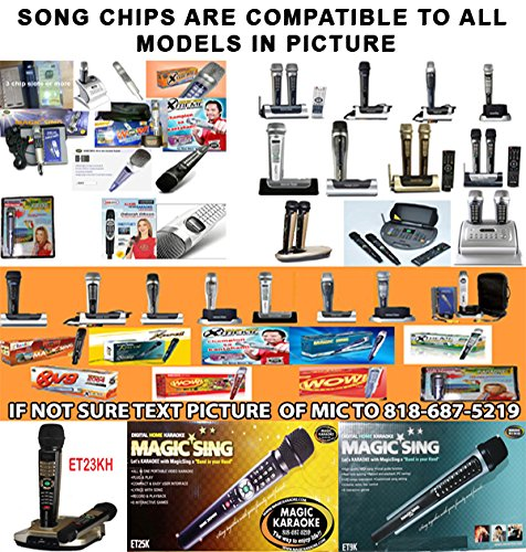 magicsing songchips SONG CHIPS POP793 793 songs for magic sing karaoke mic compatible with et models and ed model