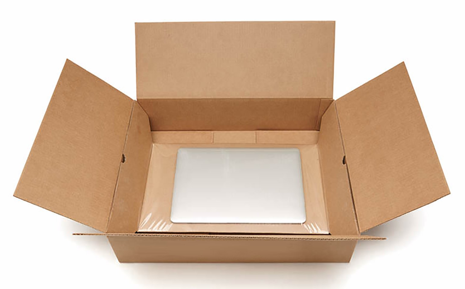 Korrvu® Laptop, Notebook or Tablet Shipping System / Mailer Box Size 18''x16''x4'' - Fits Most Laptop Screen Sizes