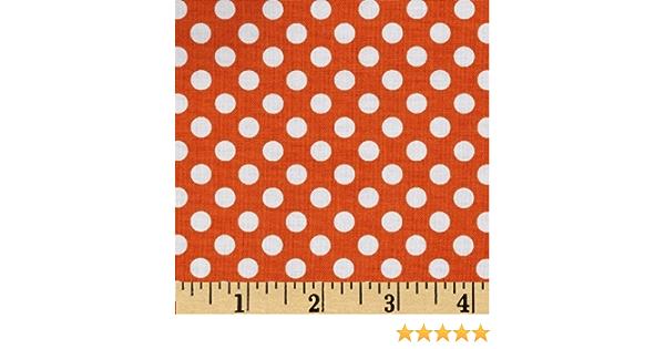 Riley Blake Sold by the yard C350-60 ORANGE Small Dots Orange 100/% cotton fabric s