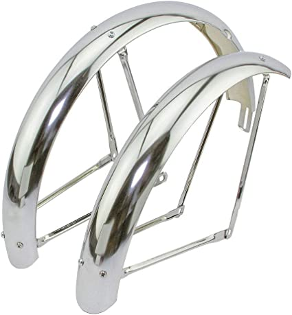 Alta Bicycle 20 Classic Adjustable Fender Set in Chrome