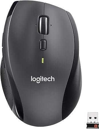 Logitech M705 Marathon Ratón Inalámbrico, 2,4 GHz con Mini Receptor USB, Seguimiento Óptico 1000 DPI, 7 Botones, Batería 3 Años, ...