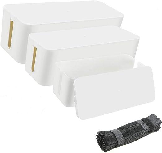 Juego de 3 unidades de organizador de cables, caja de ...