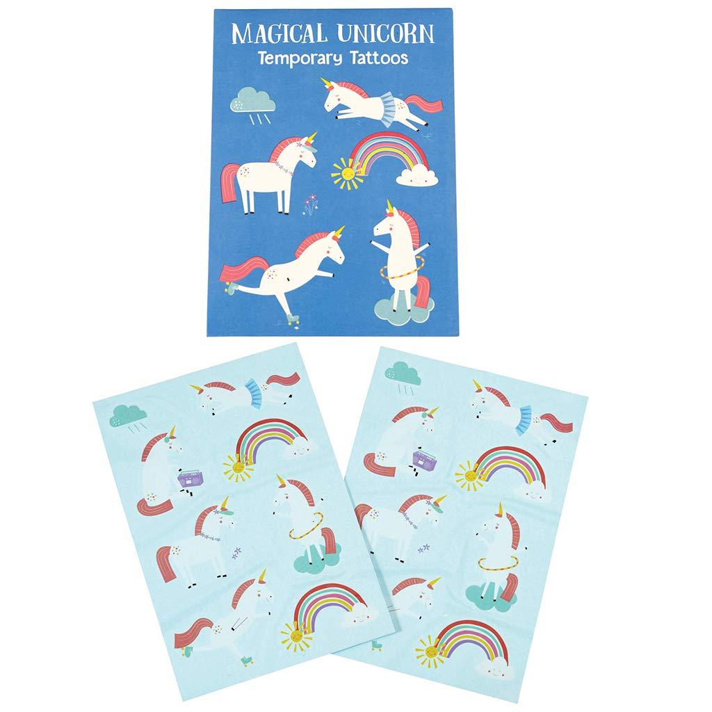 Children's Magical Unicorn Temporary Tattoos (2 Sheets) Rex International 28048