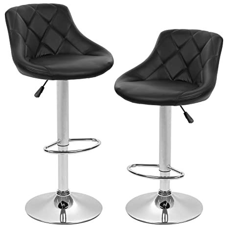 Wondrous Bestoffice Bar Stools Set Of 2 Counter Height Swivel Stool Pu Leather Modern Height Adjustable Swivel Barstools Hydraulic Chair Bar Stools Inzonedesignstudio Interior Chair Design Inzonedesignstudiocom
