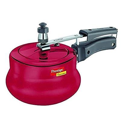 Prestige Nakshatra Pressure Cooker, 3 Litres, Red