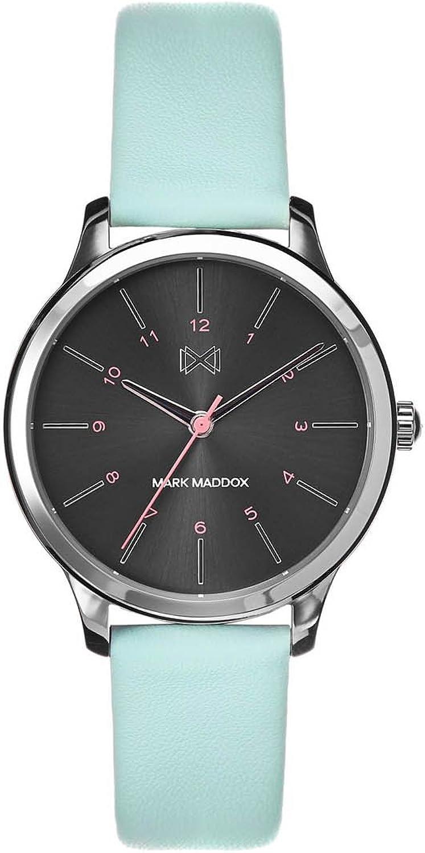 Mark Maddox Reloj Analogico para Mujer de Cuarzo con Correa en Cuero MC7100-57