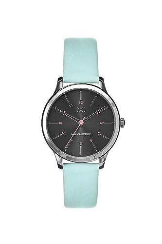 Mark Maddox Reloj Analogico para Mujer de Cuarzo con Correa en Cuero MC7100-57: Amazon.es: Relojes