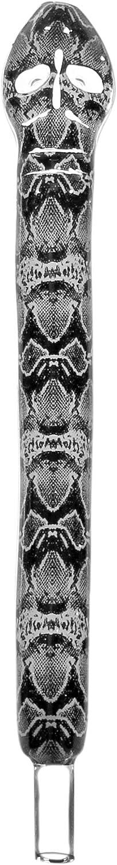 Boquilla de Cristal de Mamba, Boquilla de Repuesto para cachimba con diseño de Serpiente, Longitud Aprox. 30 cm