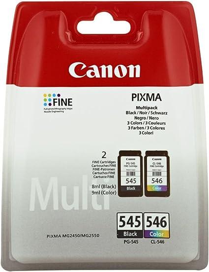 Canon PG-545+CL-546 Cartucho Multipack de tinta original Negro y ...