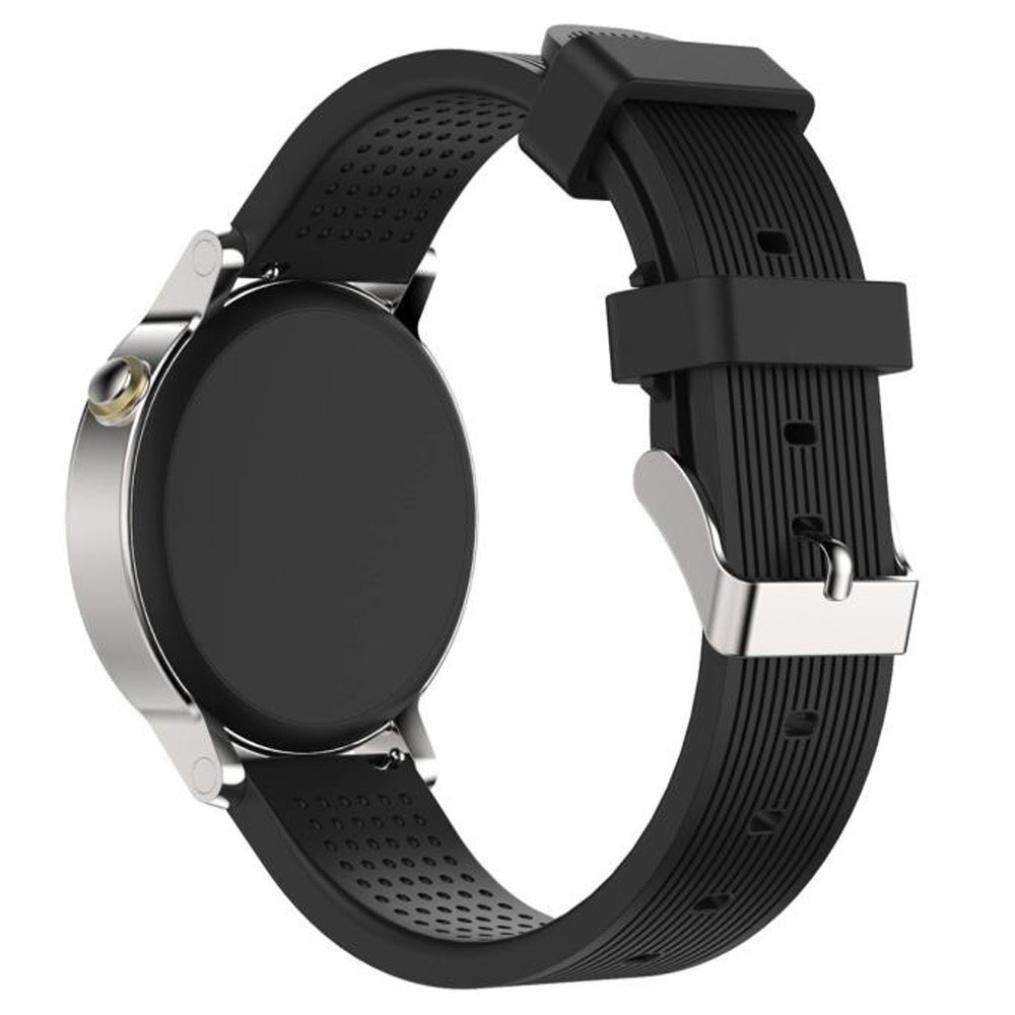 シリコン時計ストラップ、RTYOu ( TM )耐久性新しいファッションスポーツシリコンブレスレットストラップバンドメンズの's42 mm Moto 360 2 nd Watch  ブラック B0785GCCJJ