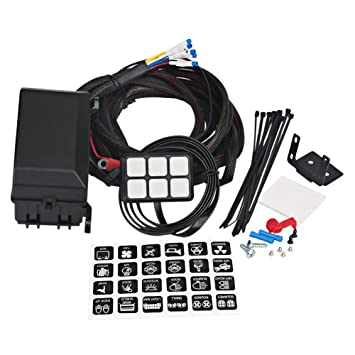61fn0rWRmHL._SY355_ amazon com waterwich 6 gang switch panel electronic relay system universal waterproof fuse relay box at creativeand.co