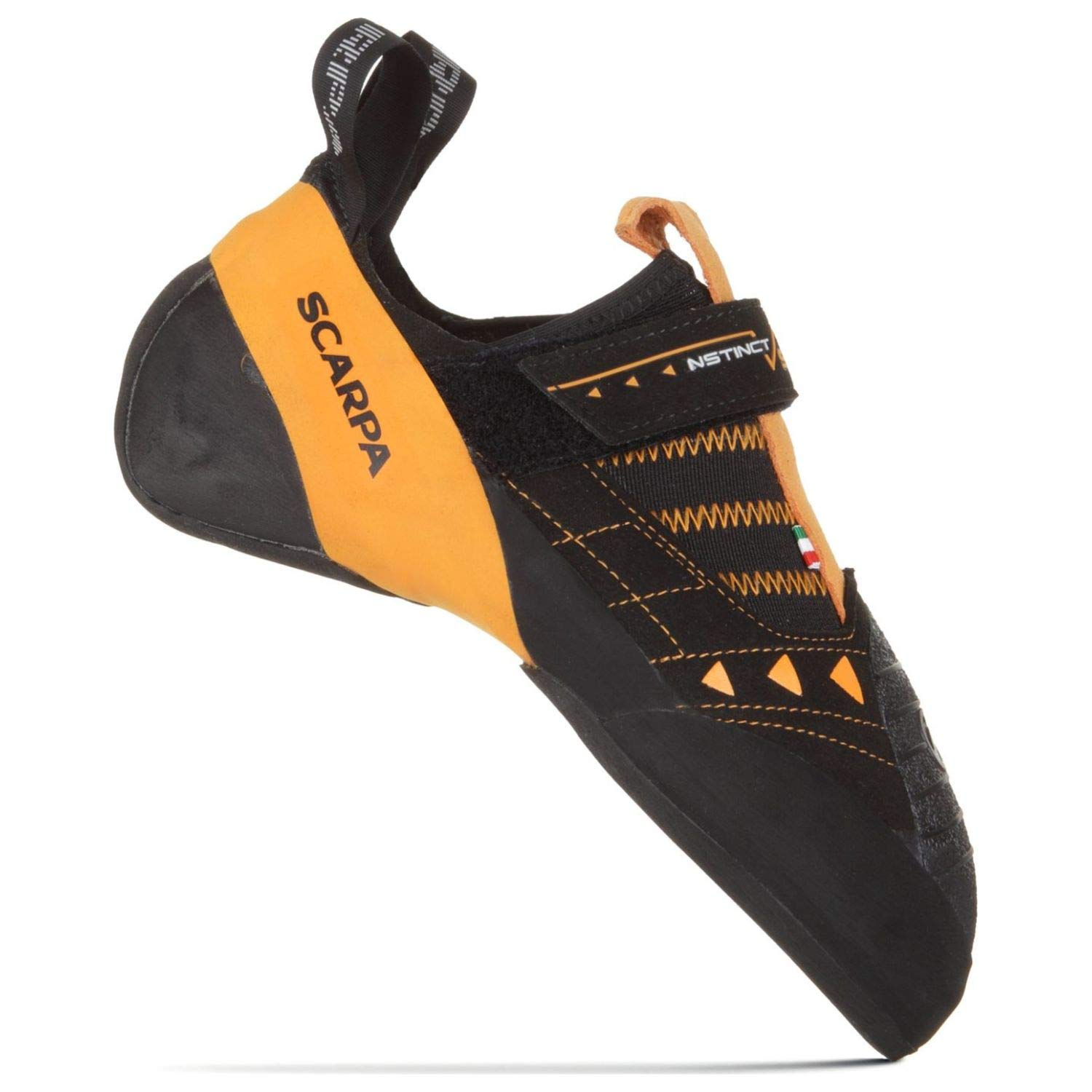 SCARPA Instinct VS Climbing Shoe Black/Orange 46 by SCARPA