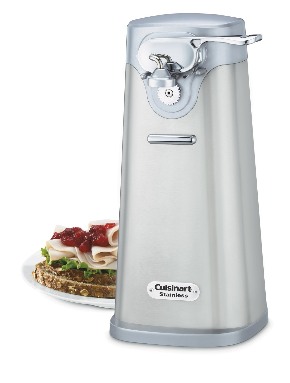 Cuisinart Deluxe Stainless Steel Electric Can Opener (Renewed) by Cuisinart
