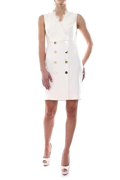 Marciano GUESS 92G737-8180Z Vestido Mujer Blanco 44: Amazon ...