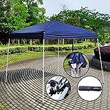 Z ZTDM Canopy Tent (Twelve Styles) Folding for Outdoor Pop Up Wedding Party BBQ, Sunshade / Waterproof / Heavy Duty (8.2' X 8.2' Blue)
